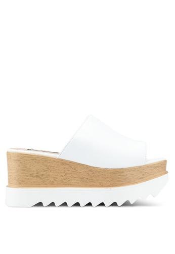 Nose 白色 Casual Wedge Heel Slides 930E0SH076CDE3GS_1