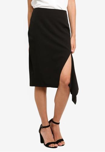 Vesper black Yvette Mini Skirt With Frill DF5D4AA0D4AE98GS_1