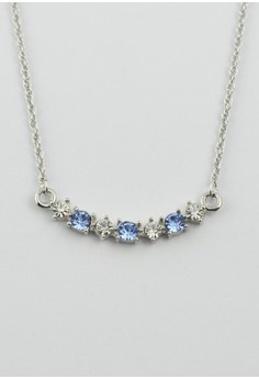 Crystal and Light Sapphire Necklace