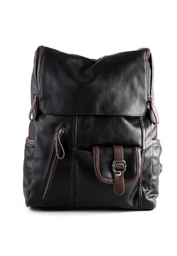Lara multi Men Buckle Pockets Zipper Backpack ABAEFAC8C7900FGS_1
