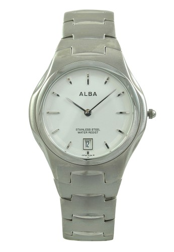 Alba silver ALBA Jam Tangan Pria - Silver White - Stainless Stee - AVKB67 AL383AC0V4ZJID_1
