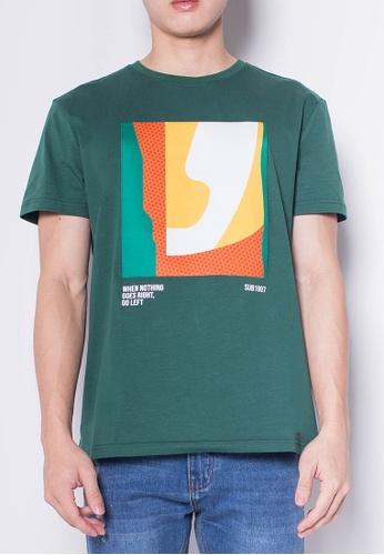 SUB green Men Short-Sleeve Graphic Tee 67112AA541F67FGS_1