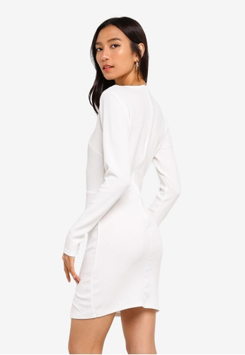 b9ab0df0676f Buy MISSGUIDED Crepe Long Sleeve Bodycon Dress Online on ZALORA ...