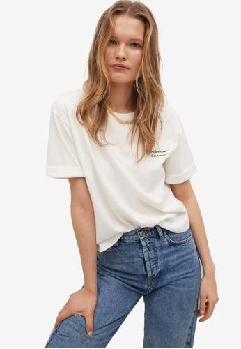Mango white Boats Printed Cotton T-Shirt 1A2FBAABBC370EGS_1