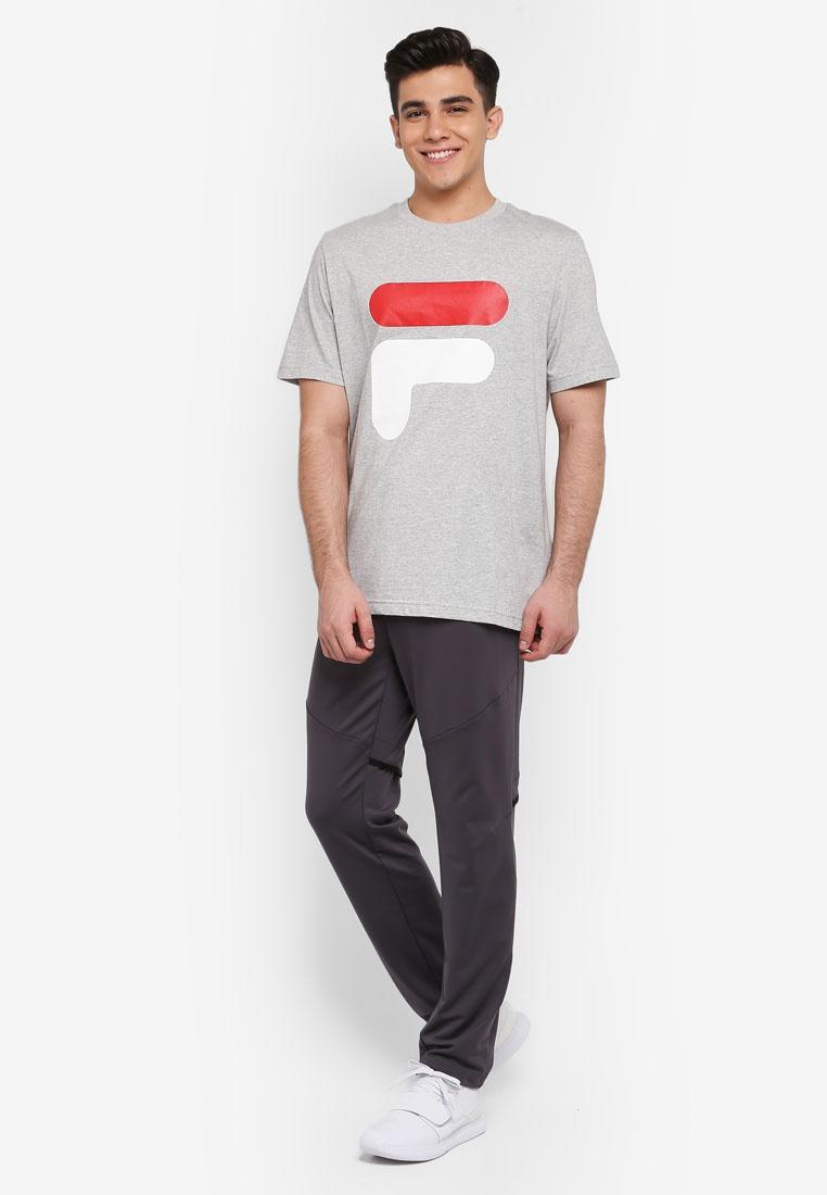 FILA Classice Heritage Red Grey White Tee Logo 0txqg