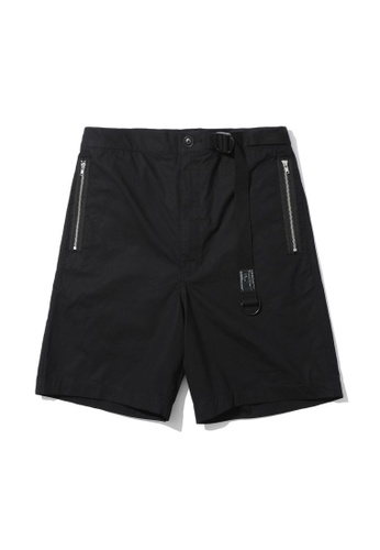 Fivecm black Belted chino shorts 75D4DAA132C809GS_1