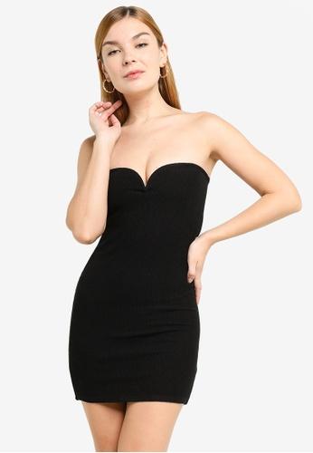 H&M black Strapless Dress A834AAADAA7E01GS_1