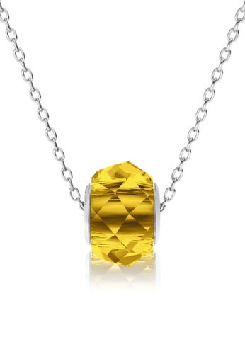 Her Jewellery yellow BeCharmed Briolette Bead Pendant (Light Topaz) - Made with premium grade crystals from Austria 86E97ACDC616CEGS_1