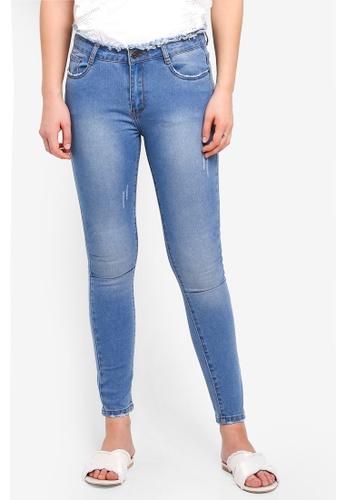 Something Borrowed blue Cropped Skinny Fit Jeans FBA23AAF11FD44GS_1
