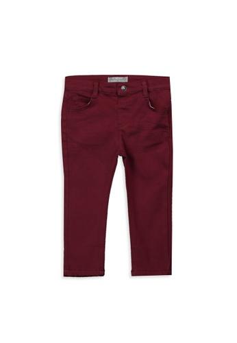 LC Waikiki red Baby Boy's Slim Fit Heavy Trousers 53D90KA3F8BB4BGS_1