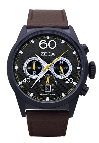 ZECA black and brown Zeca Watches Men Fashion Leather Analog - 240M Brown Black 934B3AC88886F3GS_1