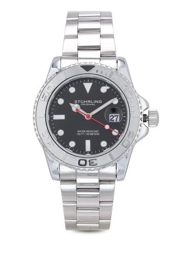 Stuhrling Original silver Aquadiver 3967 Watch 3CE87AC69514F6GS_1