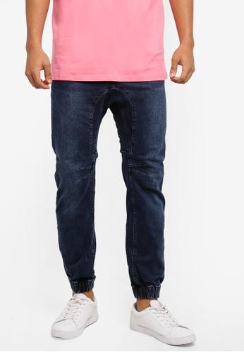 Cotton On 藍色 Slim Denim Joggers 8E009AA6E228CAGS_1