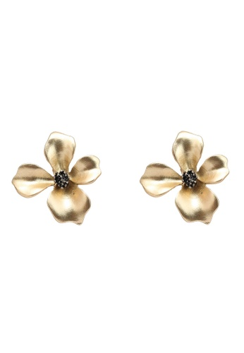 Saturation gold Jasmine Flower Clip on Earrings 69EE7AC1773224GS_1