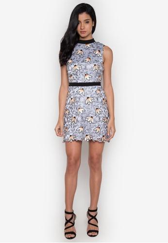 NOBASIC multi Floral Crochet Mini Dress NO444AA0GRE5SG_1