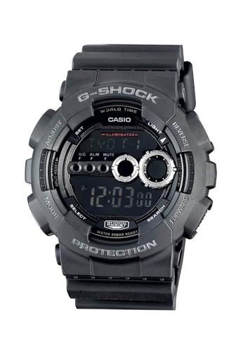 Casio black Casio G-SHOCK Jam Tangan Pria - Black - Silicon - GD-100-1BDR CA347AC0UP1HID_1