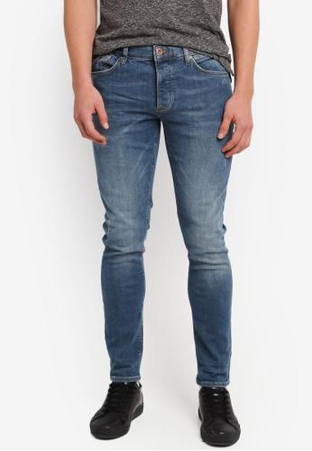 River Island blue Sid Skinny Jeans RI009AA0SIUFMY_1