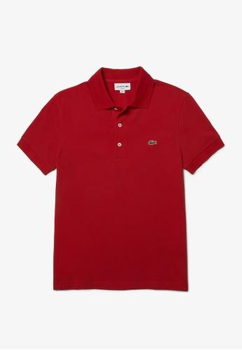 Lacoste red Lacoste Men's Mini Pique Stretch Polo 4706EAAE594877GS_1