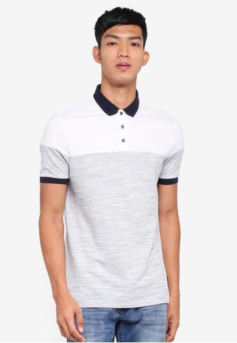 Burton Menswear London 藍色 撞色短袖POLO衫 42E6FAA75AAA9CGS_1