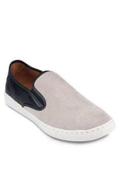 Mixed Material Slip On Sneakers