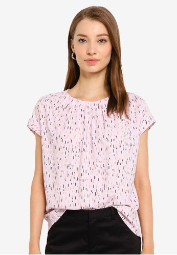 G2000 pink Short Sleeve Light Stick Printed Blouse 01CCEAA9DDC9C9GS_1
