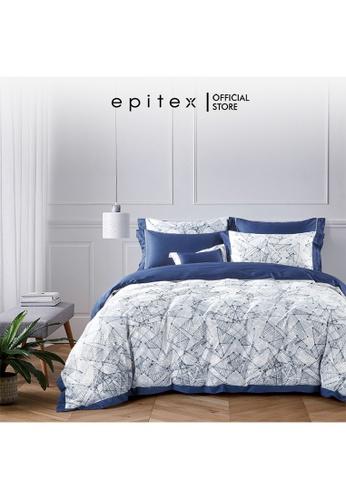 Epitex Epitex HOMME 1600TC Tencel Printed Bedsheet - Quilt Cover Set - (w quilt cover) 9B066HLAF94C34GS_1