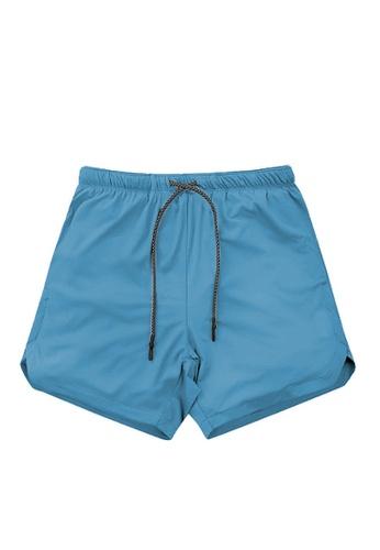 Twenty Eight Shoes 藍色 VANSA 休閒雙層運動短褲  VCM-St063 9282EAA156A611GS_1