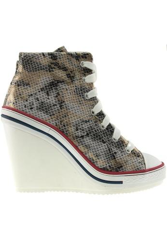 Maxstar Maxstar Women's 777 Back Zipper Snake Texture High Wedge Heel Sneakers US Women Size MA164SH17PXMSG_1