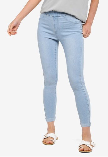 ZALORA BASICS blue Basic Denim Jeggings 6CD77AADA4E4CBGS_1