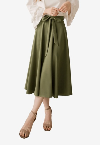 0b8521e48f Buy Yoco High Waist Tie-Front Midi Skirt Online | ZALORA Malaysia