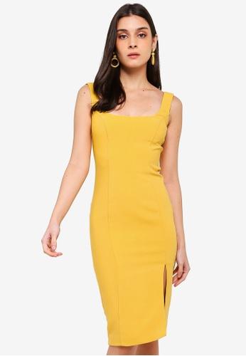 Bardot yellow Leila Dress A2636AAB60AF1FGS_1