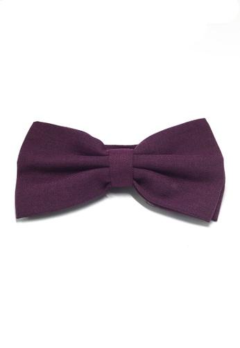 Splice Cufflinks Cinch Series Purple Cotton Pre-tied Bow Tie SP744AC85LBASG_1