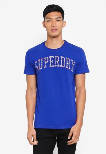 Superdry 藍色 短袖印花T恤 D17F9AAA18042DGS_1