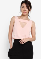 ZALORA pink Collection Strapped Sleeveless Top F777FAA606D62CGS_1