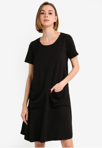 UniqTee black Premium A Line Dress with Pockets 8C995AAE9E86CFGS_1