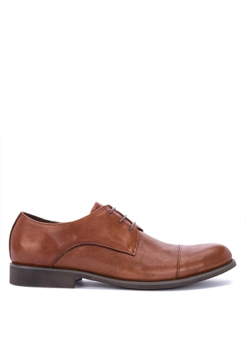 Sledgers brown Lille Smart Casual Lace Up Oxford 2C5A5SH027187CGS_1