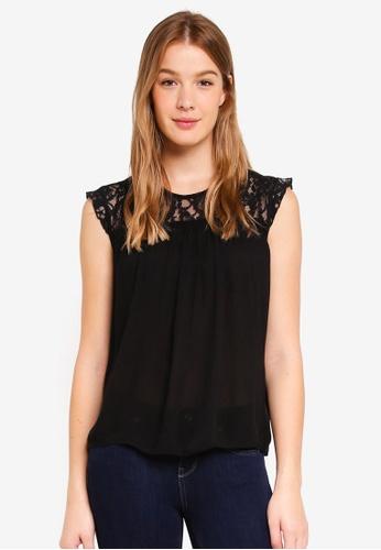 ONLY black Tango Cap Sleeve Top 6FEC5AA4B5B305GS_1