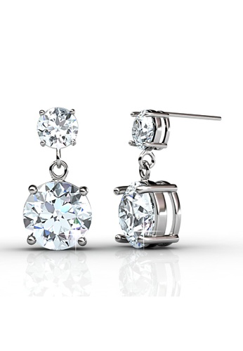 Her Jewellery silver Swarovski® Crystals - Snowman Earrings (18K White Gold Plated) Her Jewellery HE581AC0RADMMY_1