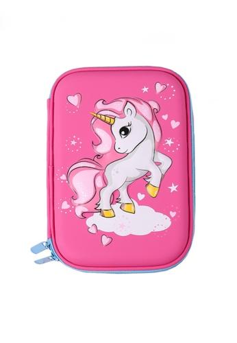 Twenty Eight Shoes pink VANSA 3D Cartoon Pencil Case  VAK-A0021 ED8E5KCA8096E0GS_1