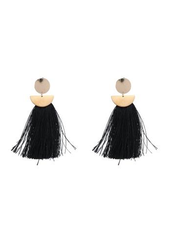 Rubi black and multi Princess Tassle Statement Earrings 9D3EFAC10C2B3DGS_1