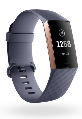 Fitbit grey Fitbit Charge 3 - Rose Gold/Blue Grey A51EEAC965491BGS_1