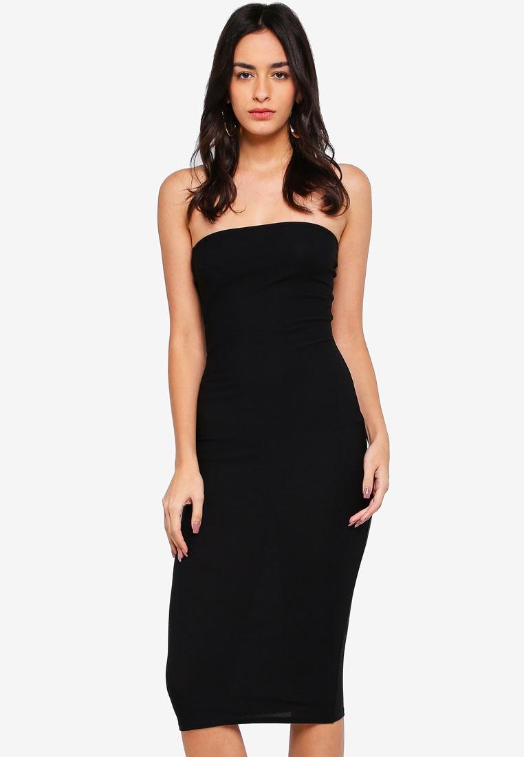 Bandeau Bandeau Midi MISSGUIDED Black Midi Dress Dress MISSGUIDED 6zZxE6