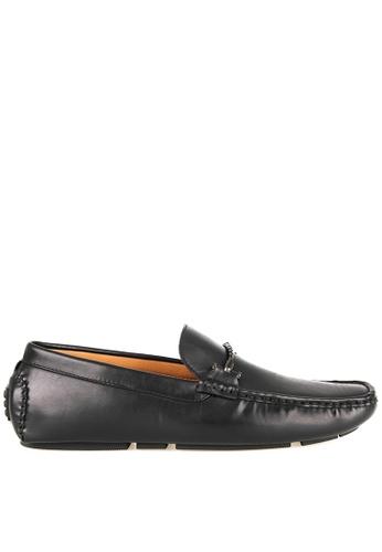 Tomaz black Tomaz C413 Single Braided Buckle Moccasins (Black) 8973ESHFE66C48GS_1