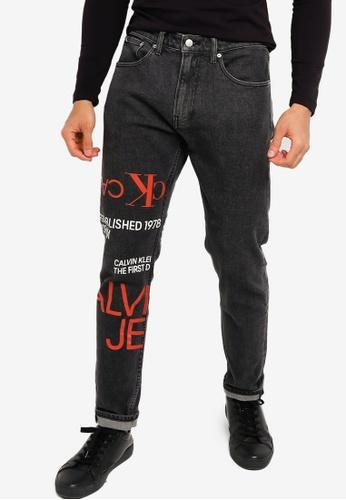 CALVIN KLEIN black Modern Print Jeans - CK Jeans 6A47CAAC87F7FCGS_1