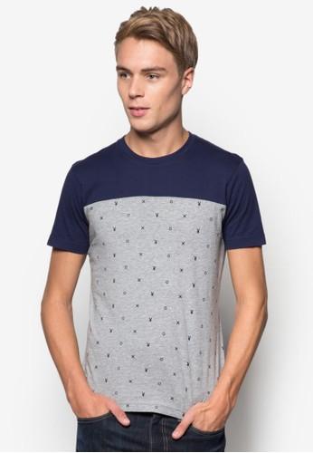色esprit mongkok塊印花T 恤, 服飾, T恤