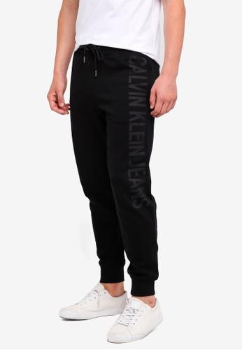 Calvin Klein 黑色 Logo Sweatpants - Calvin Klein Jeans C6708AADB86EEFGS_1