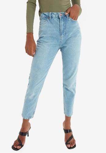 Trendyol blue High Waist Mom Jeans 20380AAB46E9C4GS_1