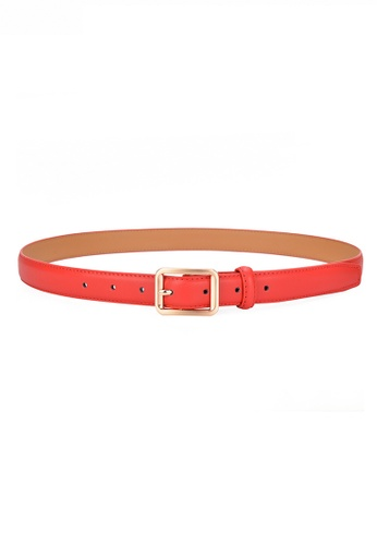 Twenty Eight Shoes red Metal Pin Buckle Leather Belt JW CY-101 6E29CAC0A67691GS_1