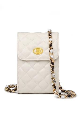Twenty Eight Shoes white VANSA Fashion Lingge Chain Crossbody Bag VBW-Ps503 9CB4EACF5E4547GS_1