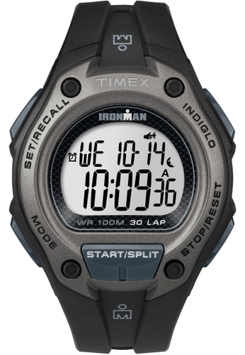 TIMEX black Timex - Ironman 30 Lap Oversized Black (TW5M13900) TI857AC0FOYKSG_1